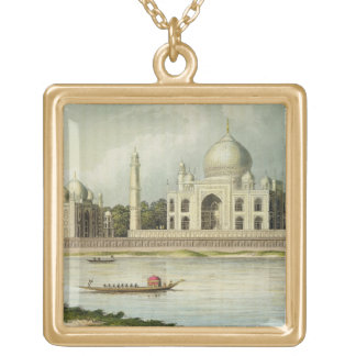 The Taj Mahal, Tomb of the Emperor Shah Jehan and Gold Plated Necklace