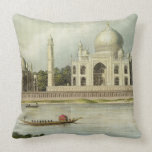 The Taj Mahal, Tomb of the Emperor Shah Jehan and Throw Pillows