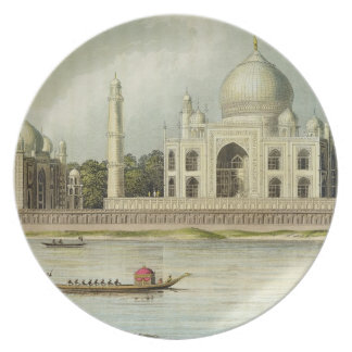 The Taj Mahal Tomb of the Emperor Shah Jehan and Dinner Plate