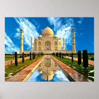 The Taj Mahal worlds most beautiful houses Print