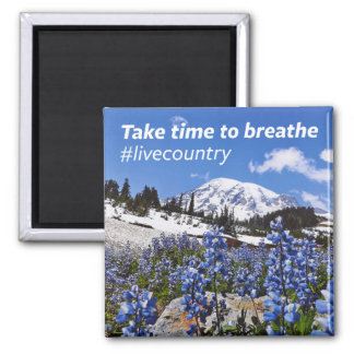 The Take Time to Breathe 2 Inch Square Magnet