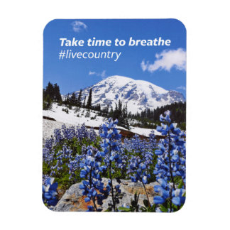 The Take Time to Breathe Rectangular Photo Magnet