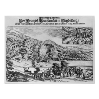 The taking and destruction of Heidelberg by Poster