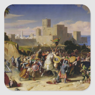 The Taking of Beirut by the Crusaders Square Sticker