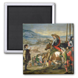 The Taking of Breisach 2 Inch Square Magnet