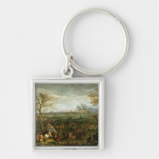 The Taking of Cambrai Silver-Colored Square Keychain