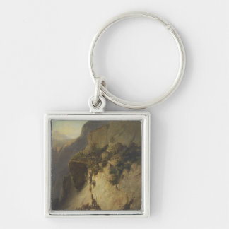 The Taking of Fort Fautuhua, Tahiti Silver-Colored Square Keychain