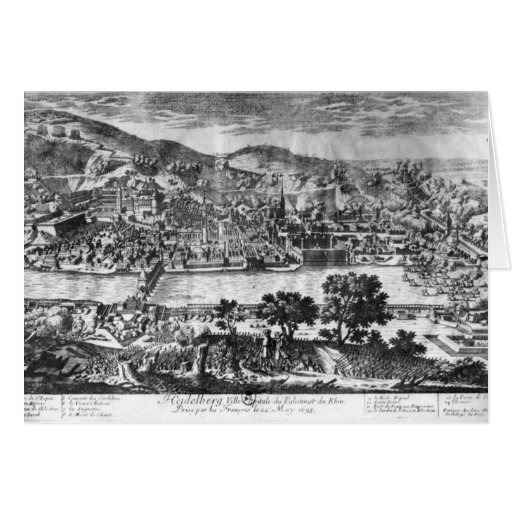 The taking of Heidelberg on 22th May 1693 Card