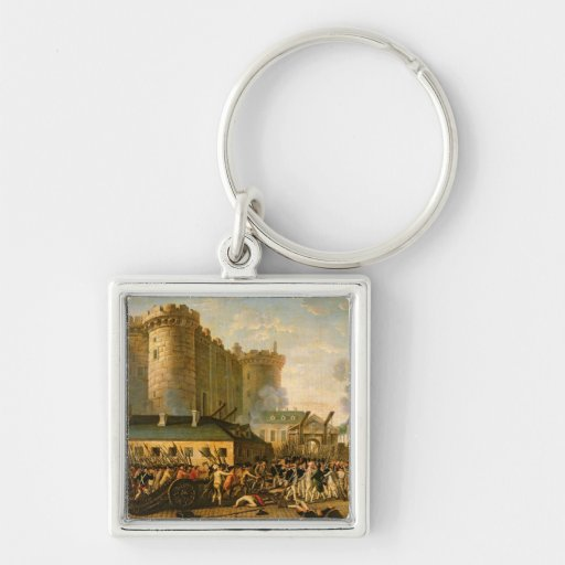 The Taking of the Bastille, 14 July 1789 Keychains