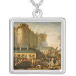The Taking of the Bastille, 14 July 1789 Square Pendant Necklace