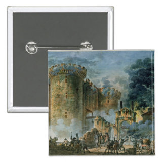 The Taking of the Bastille, 14th July 1789 2 Inch Square Button