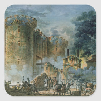 The Taking of the Bastille, 14th July 1789 Square Sticker