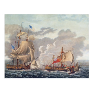 The Taking of the English Vessel 'The Java' Postcards