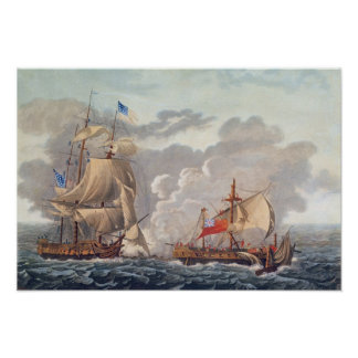 The Taking of the English Vessel 'The Java' Print