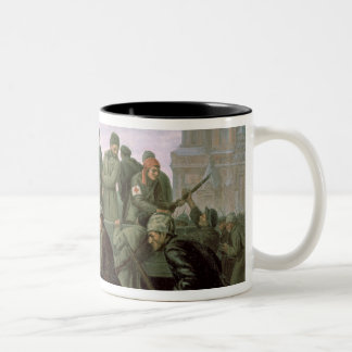 The Taking of the Moscow Kremlin in 1917, 1938 Two-Tone Coffee Mug