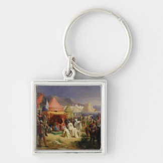 The Taking of Tripoli, April 1102, 1842 Silver-Colored Square Keychain