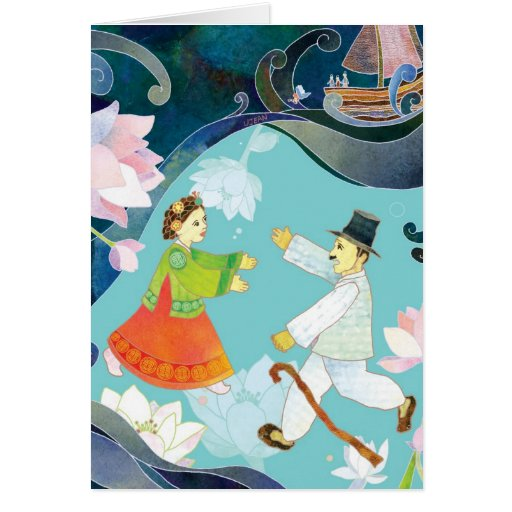 The Tale of Shim Chung Greeting Card