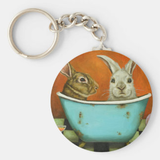 The Tale Of Two bunnies Keychain