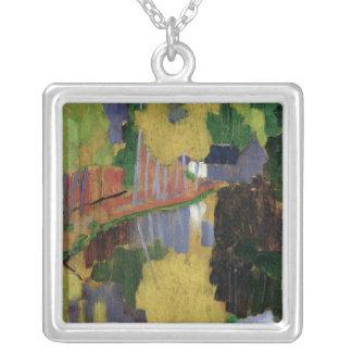 The Talisman Square Pendant Necklace