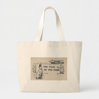 The Talk of the Farm Large Tote Bag