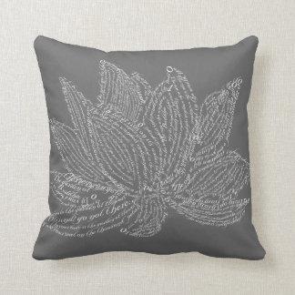 The Talking Lotus Throw Pillows
