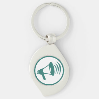 "The ""talking science"" badge Silver-Colored swirl metal keychain"