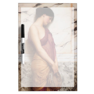 The Tambourine Girl by John William Godward Dry-Erase Board