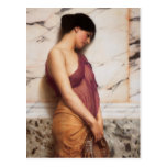 The Tambourine Girl by John William Godward Postcard