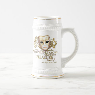 The Taming of the Shrew Quote (Gold Version) Beer Stein