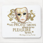 The Taming of the Shrew Quote (Gold Version) Mouse Pad