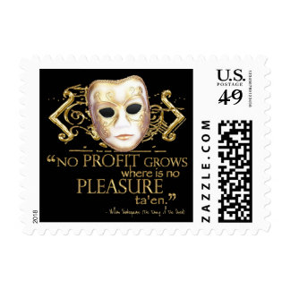 The Taming of the Shrew Quote (Gold Version) Stamp