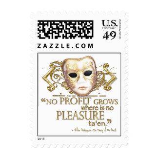 The Taming of the Shrew Quote (Gold Version) Postage