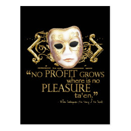 The Taming of the Shrew Quote (Gold Version) Postcard