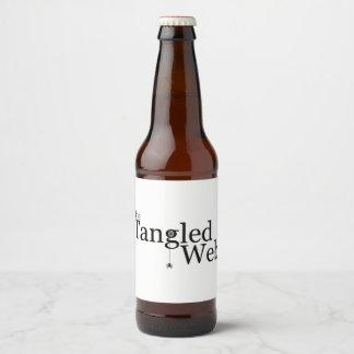 The Tangled Web Beer Bottle Label