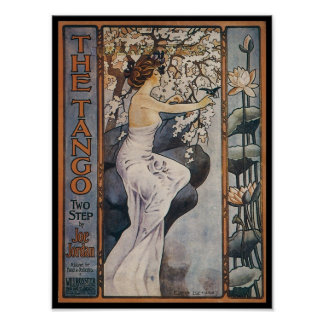 The Tango Vintage Songbook Cover Poster
