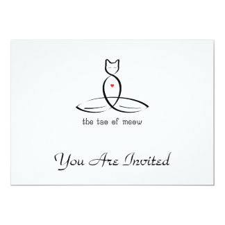 The Tao Of Meow - Fancy style text. Card