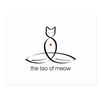 The Tao Of Meow - Regular style text. Postcard