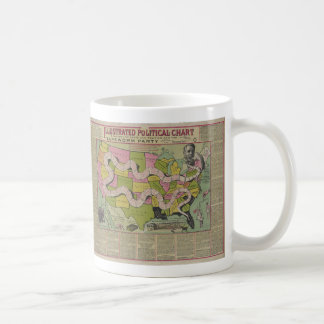 The Tapeworm Party American Political Chart (1888) Coffee Mugs
