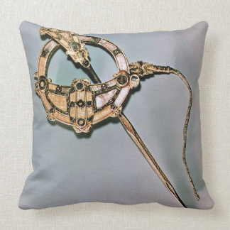The Tara Brooch, from Bettystown, County Meath (ca Throw Pillow
