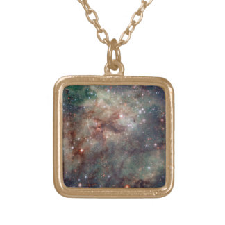 The Tarantula Nebula - Frame 2 Gold Plated Necklace