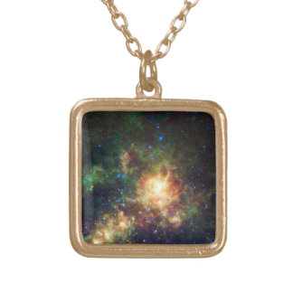 The Tarantula Nebula - Frame 3 Gold Plated Necklace