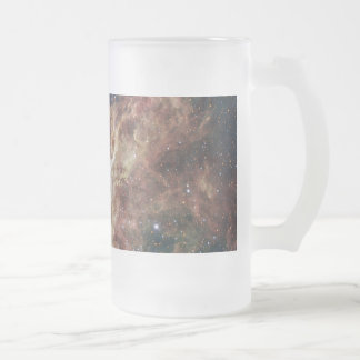 The Tarantula Nebula Frosted Glass Beer Mug