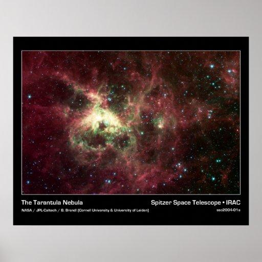 The Tarantula Nebula – Spitzer Space Telescope Poster