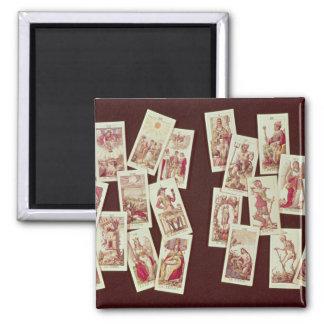 The tarot cards of the Major Arcana Magnet