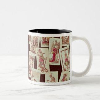 The tarot cards of the Major Arcana Two-Tone Coffee Mug