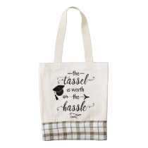 The tassel is worth the hassle zazzle HEART tote bag
