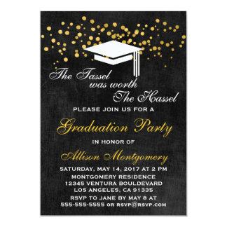 The Tassel Was Worth The Hassel Grad Invitation
