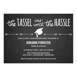 The Tassel Was Worth The Hassle Chalkboard Cute Card