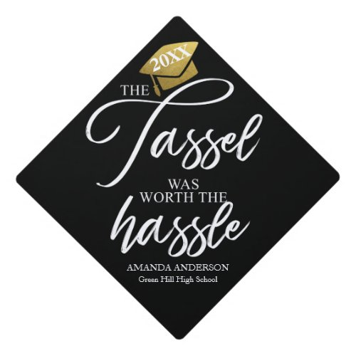 The tassel was worth the hassle graduation cap topper