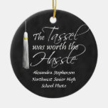 The Tassel Was Worth the Hassle Double-Sided Ceramic Round Christmas Ornament